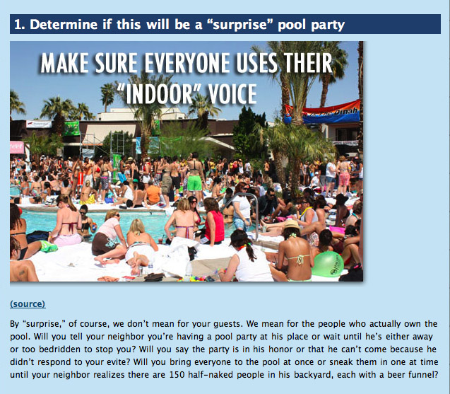 How to throw a pool party at someone else s house for How to throw a big party