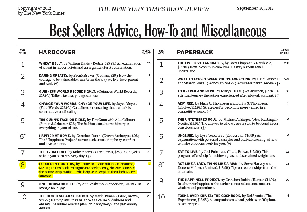 New york times best seller dating