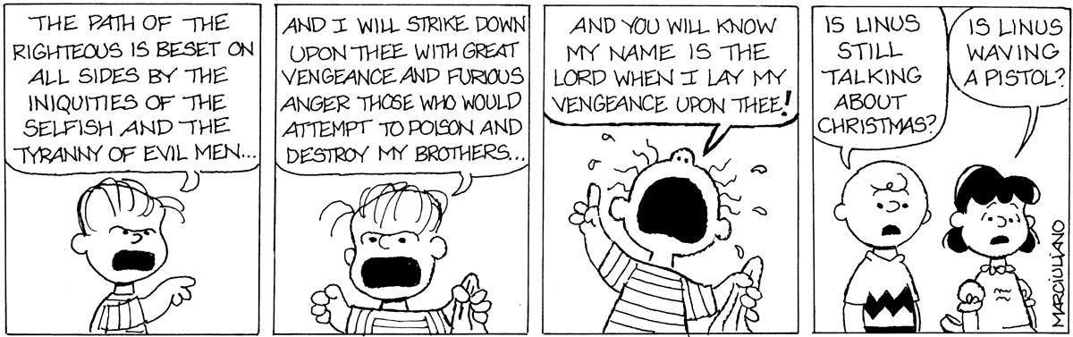 """Medium Large Comic: Linus's Unedited Speech from """"A Charlie Brown ..."""