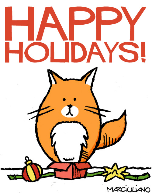 your holiday gift guide for catsby cats happy holidays cat poster