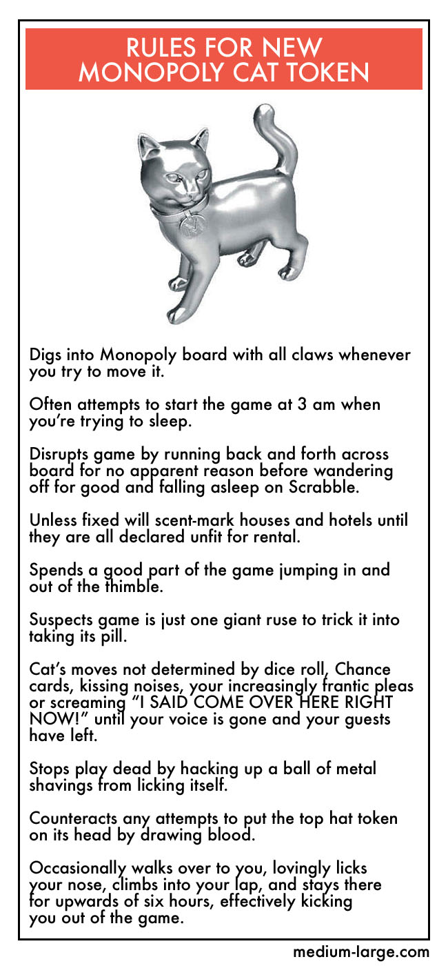Monopoly Cat Deed