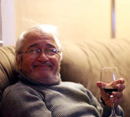 Dad with Wine