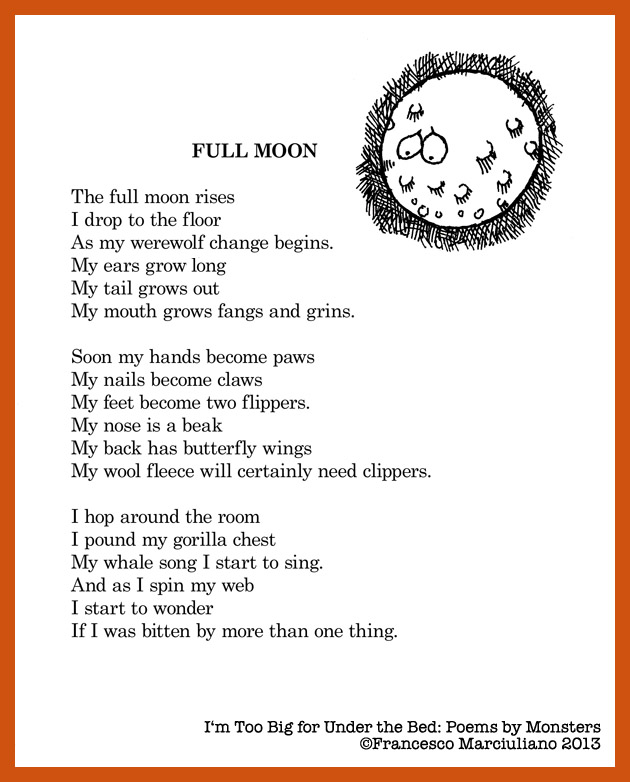 Poems By Monsters Full Moon Medium Large
