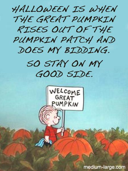 Linus Pumpkin Card