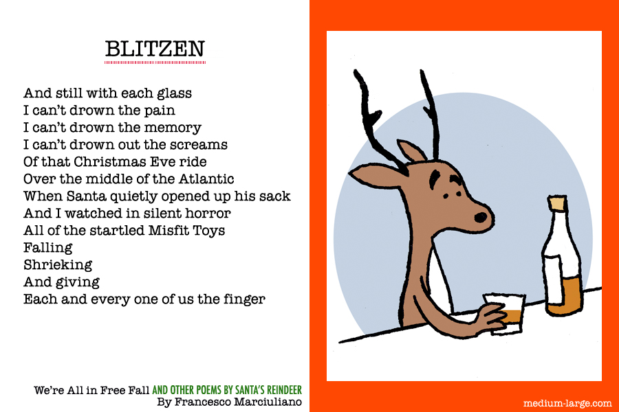 "... re All in Free Fall and Other Poems by Santa's Reindeer"": Blitzen"
