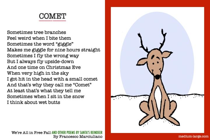 Reindeer Comet Poem