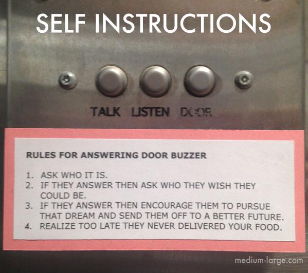 Self Instructions Door Buzzer