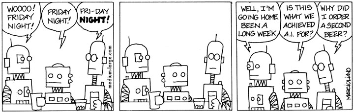 Robots at Bar Small