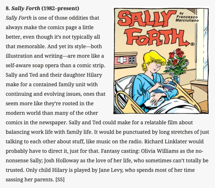 AV Club Sally Forth Movie