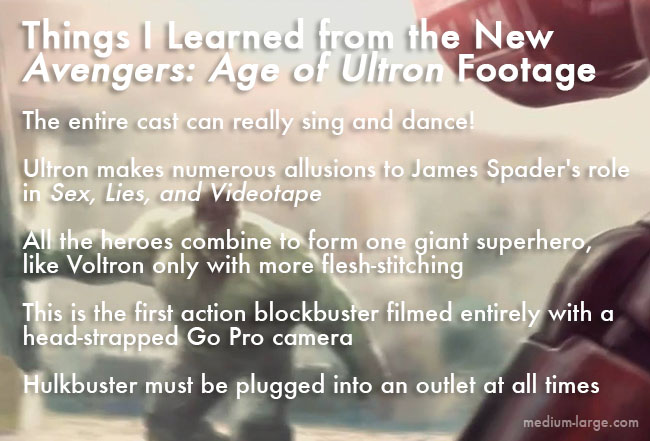 Ultron Trailer Facts