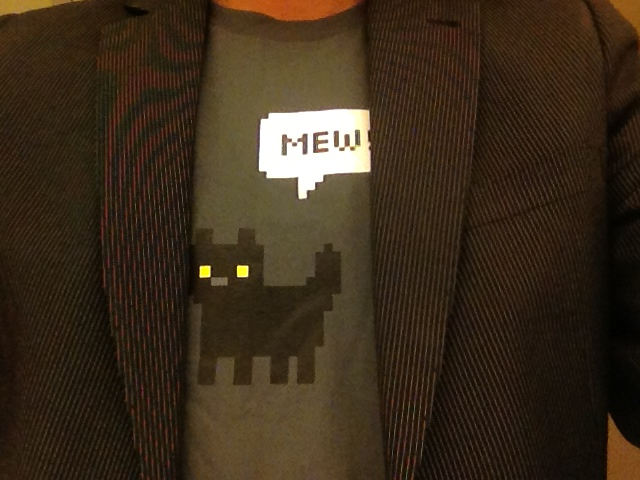 Cat Shirt Reading
