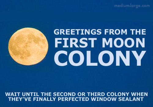 Moon Future Postcard