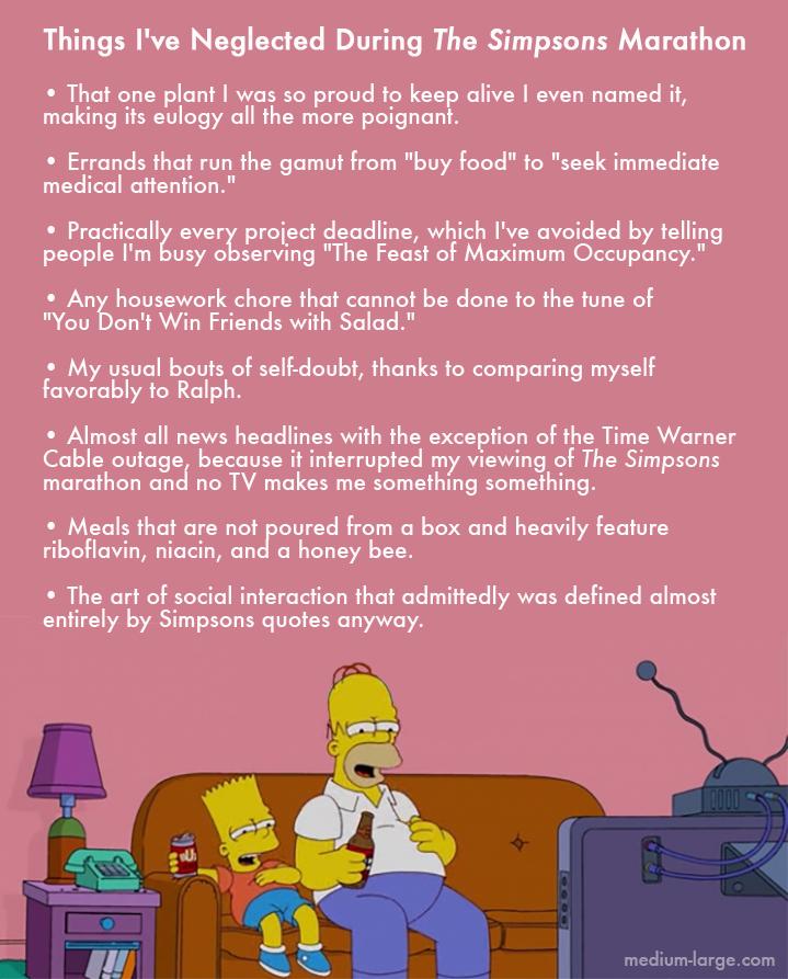 Simpsons Marathon Neglected 2
