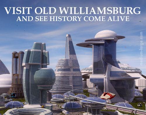 Williamsburg Future Postcard