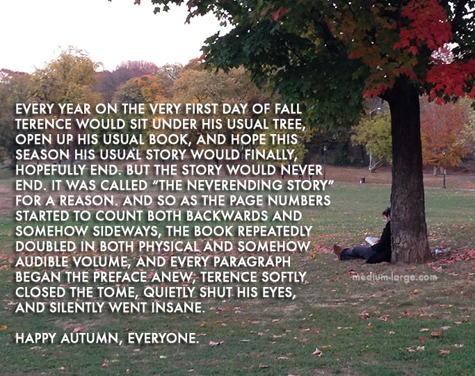 Happy First Day of Fall: A Short Story   Medium Large