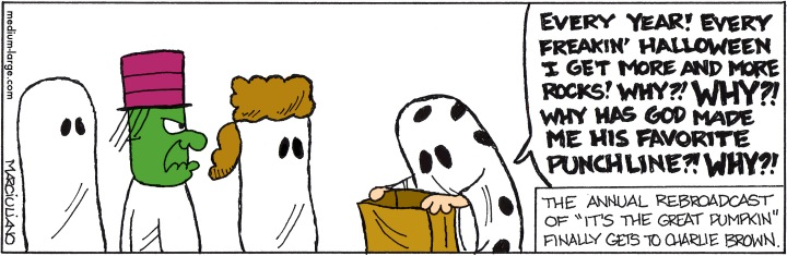 Halloween Peanuts Rock Color