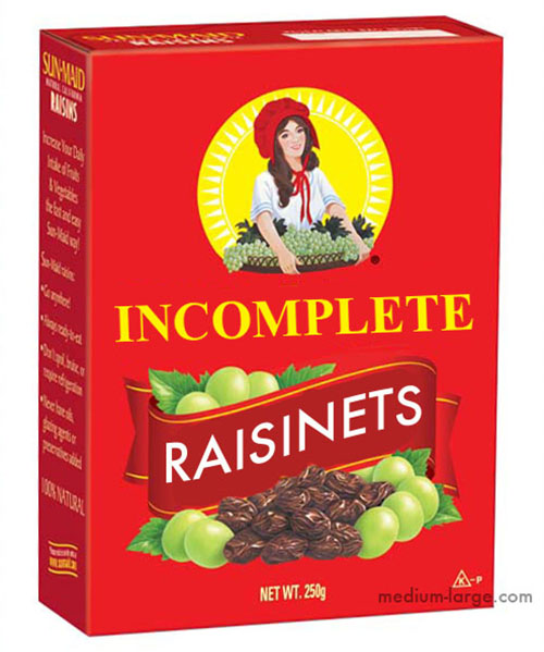 Incomplete Raisinets 2