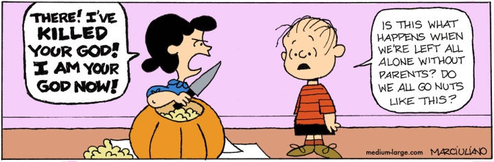 Lucy Kills Pumpkin
