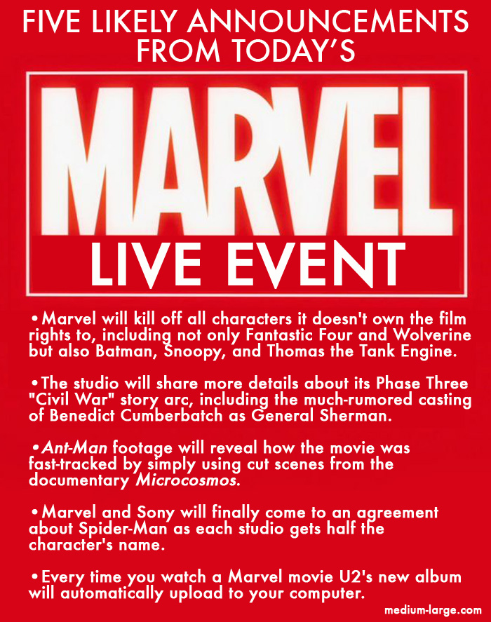 Marvel Event Announcements