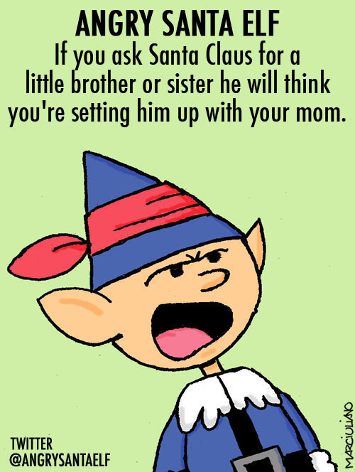 Angry Saanta Elf Little Brother