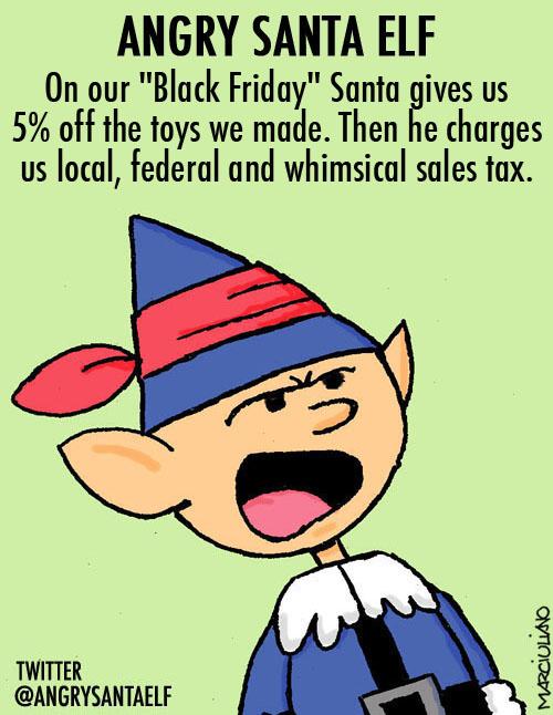 Angry Santa Elf Black Friday
