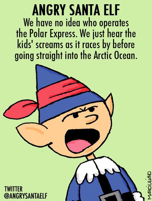 Angry Santa Elf Polar Express