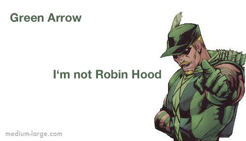 Green Arrow Card