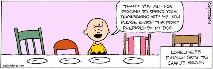 Peanuts Thanksgiving Alone Color 1200