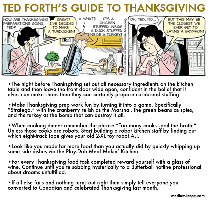 Ted Forth Thanksgiving Tips