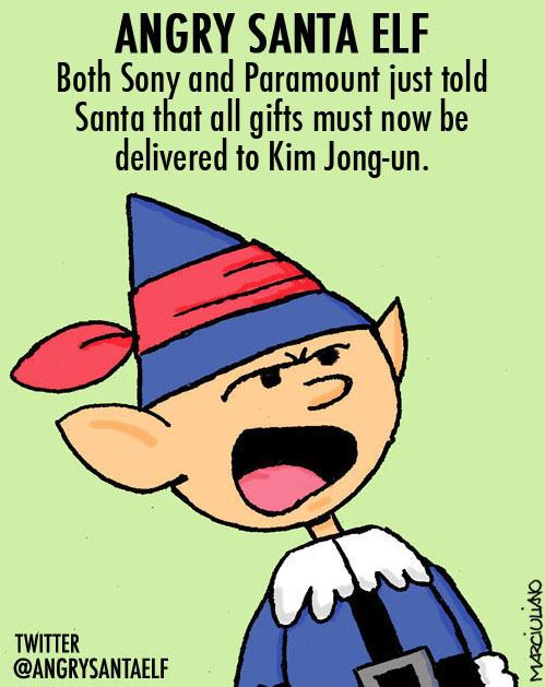 Angry Santa Elf Kim Jong