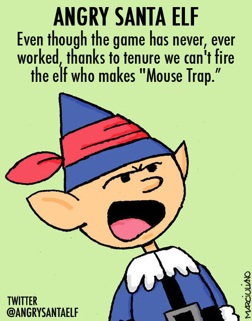 Angry Santa Elf Mouse Trap