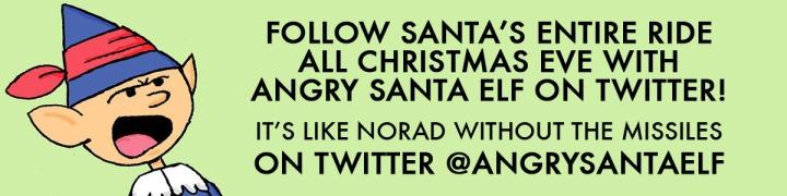 Angry Santa Elf Xmas Eve Banner 2