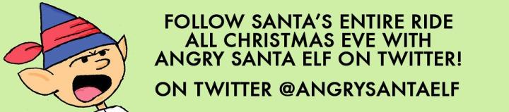 Angry Santa Elf Xmas Eve Banner 3