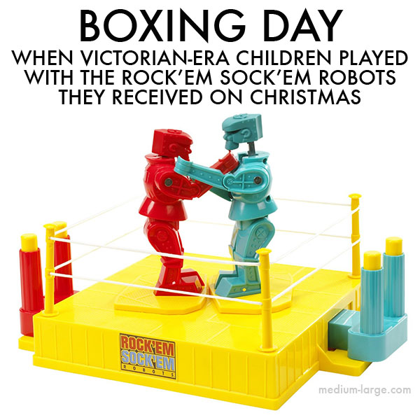 Boxing Day Rock Em Sock Em