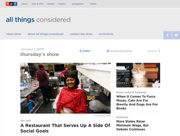 NPR All Things Considered ICPOT