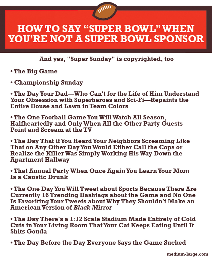Super Bowl Alternate Names ML