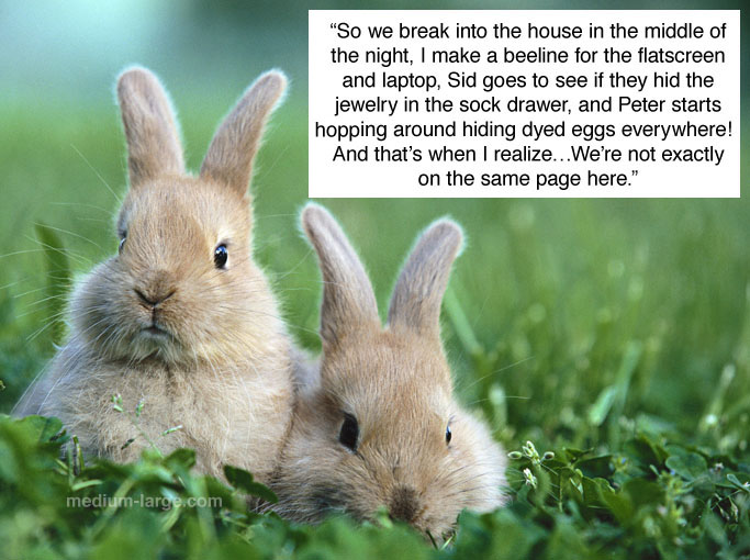 Bunnies Learn of Easter Bunny