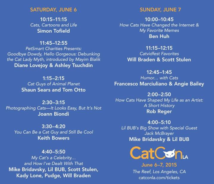 CatCon LA Schedule