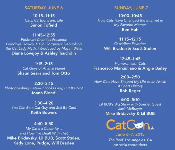 CatCon LA Schedule