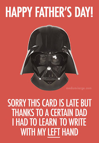 Father's Day Vader Small
