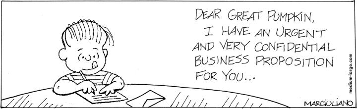 Linus Pumpkin Letter 1200