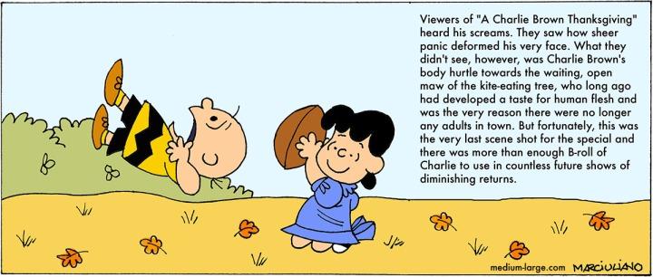 Peanuts Thanksgiving Football Kick Small