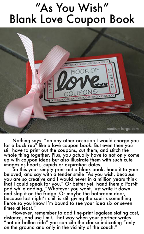 Blank Love Coupon Book ML