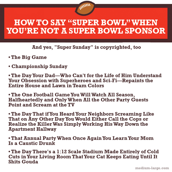 Super Bowl Alternate Names Instagram