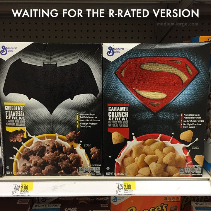 Batman V Superman Cereals R-Rated ML