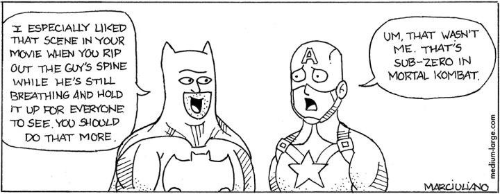 Batman v Captain America 1200
