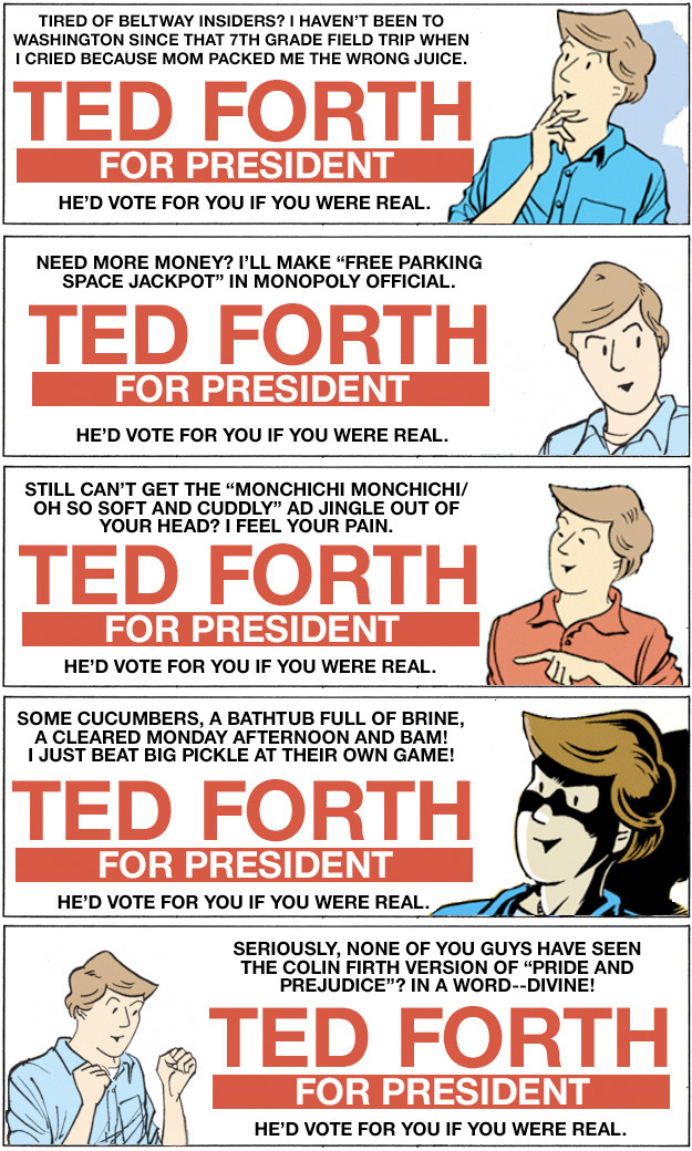 Ted Forth Campaign Stickers copy
