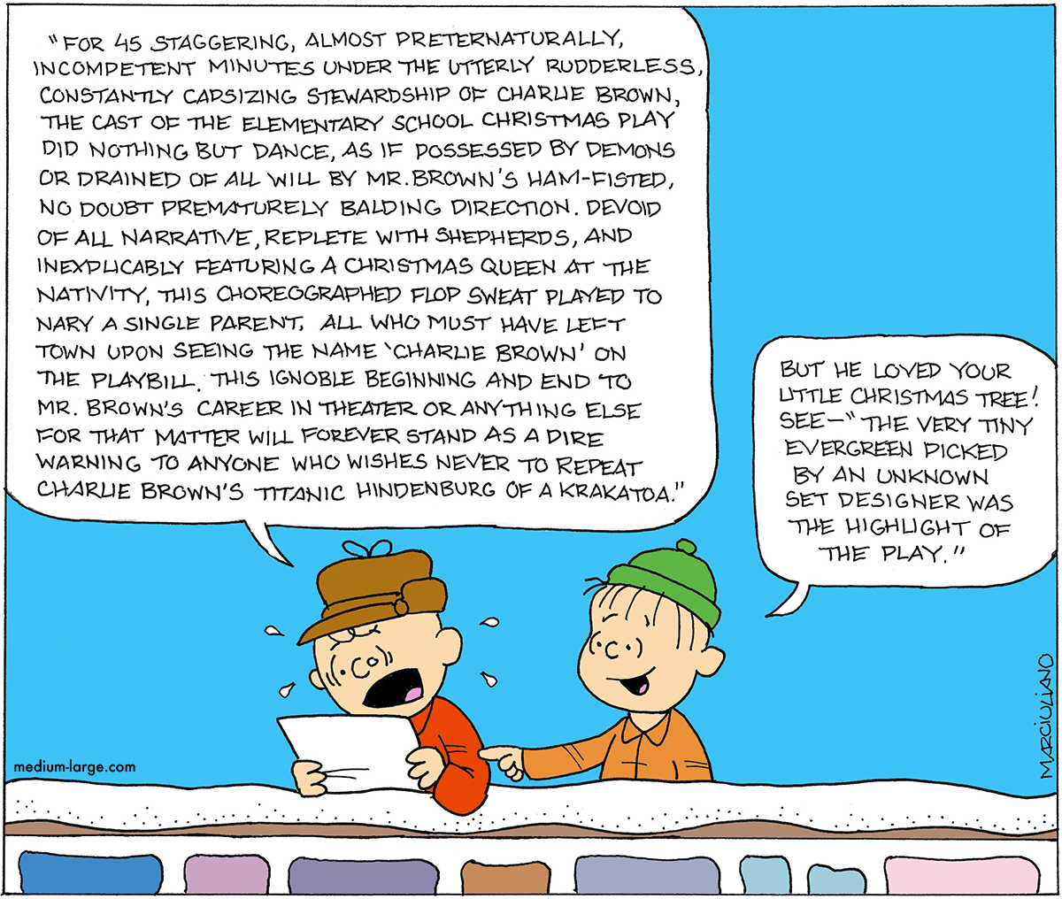 The Reviews Are in for Charlie Brown\'s Christmas Play | Medium Large